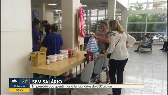 Empresário doa quentinhas a funcionários de hospital no Leblon que estão sem salários