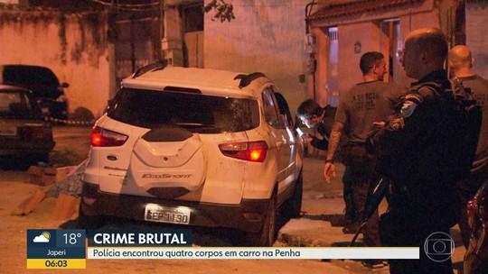 Polícia encontra quatro corpos dentro de um carro, na Penha