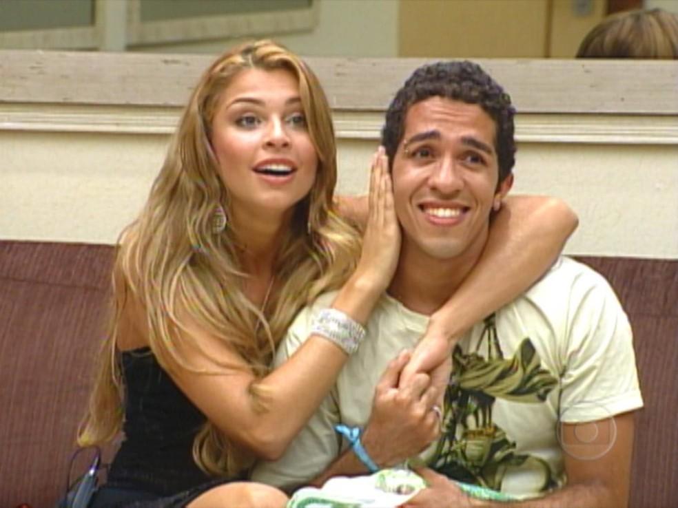 Jean Wyllys e Grazi Massafera durante a final do 'BBB 5' — Foto: TV Globo