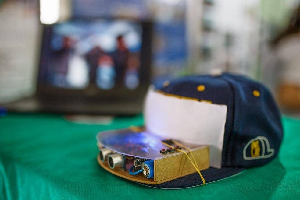 Protótipo desenvolvido por aluno de escola pública de MS (Foto: André Ximenes/Arquivo Pessoal)