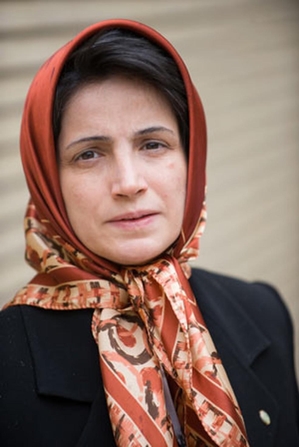 -  A advogada iraniana Nasrin Sotoudeh em 1º de outubro de 2008  Foto: AFP