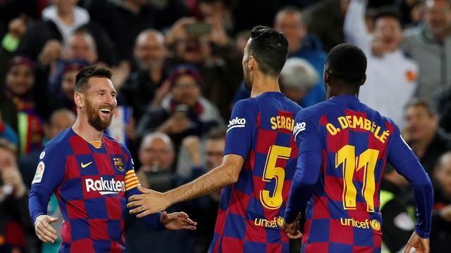 Comemoração - Barcelona x Celta