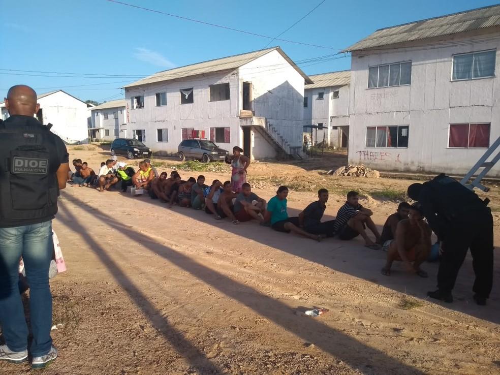 Operação de combate ao tráfico de drogas cumpre mais de 1.300 mandados em Ananindeua. — Foto: Ascom / Segup