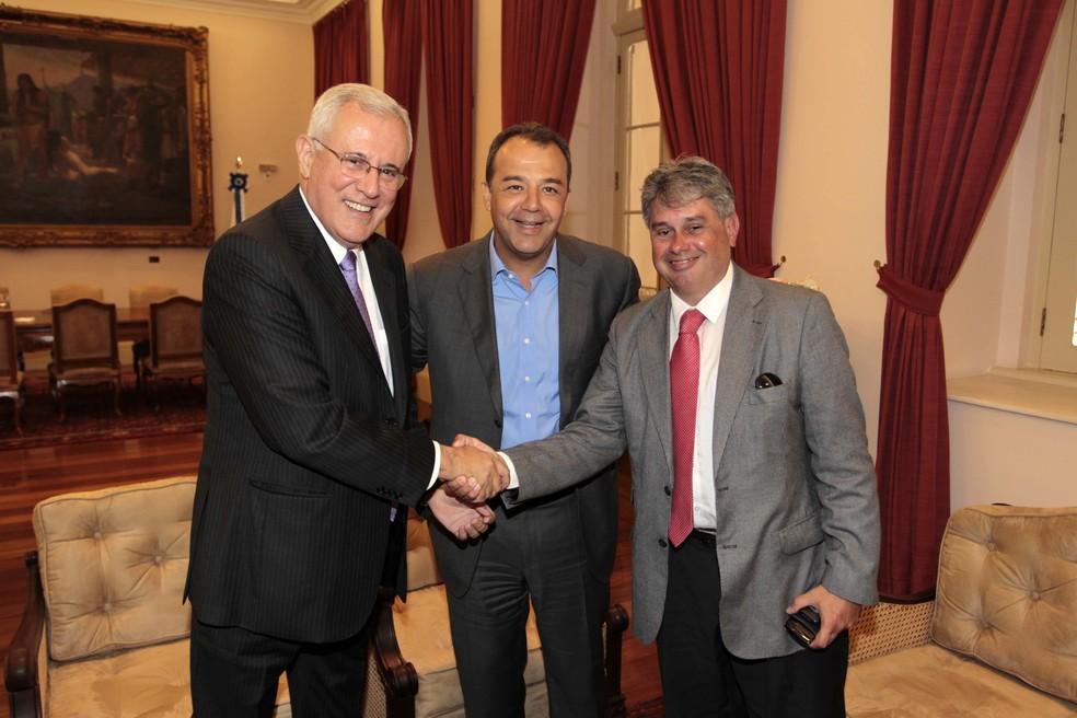 Os ex-procuradores Marfan (à esquerda) e Cláudio Lopes (à direita) foram citados pelo ex-governador Sérgio Cabral — Foto: Marino Azevedo / Governo do Estado do RJ