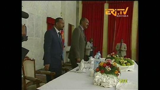 Presidente da Eritreia se reúne com o primeiro-ministro da Etiópia