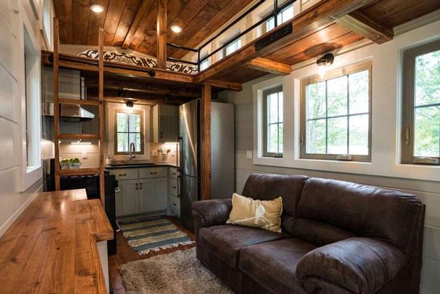 As casas da Timbercraft Tiny Homes podem ser personalizadas para se adequar ao estilo de vida do morador (Foto: Reprodução)