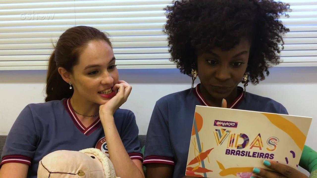 #BastidoresMalhação: Jeniffer Dias e Giovanna Rangel