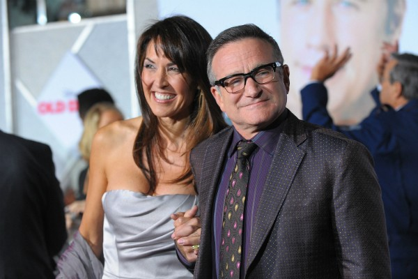 Susan Schneider e Robin Williams em evento em novembro de 2009 (Foto: Getty Images)