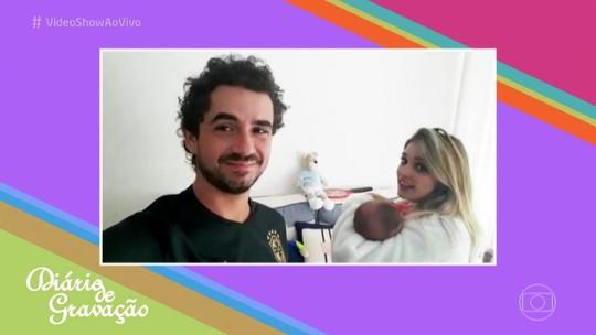 Felipe Andreoli mostra rotina dupla no 'Diário de Gravação'