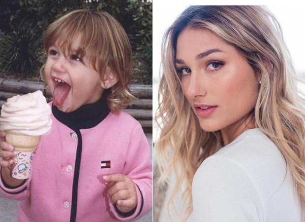 Sasha: criança e agora (Foto: Reprodução/Instagram)