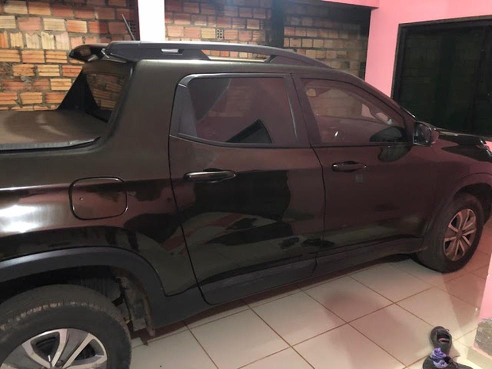 Foto de caminhonete que foi roubada da família em RO — Foto: WhatsApp/Reprodução
