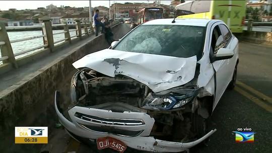 Acidente é registrado na Ponte São Francisco em São Luís