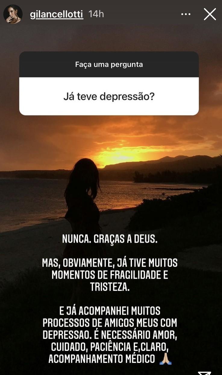 Postagem de Giovanna Lancellotti (Foto: Reprodução)
