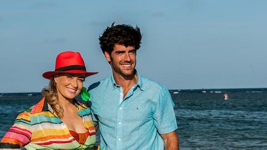 Marcos Pitombo e Angélica se divertem durante gravação em Pernambuco