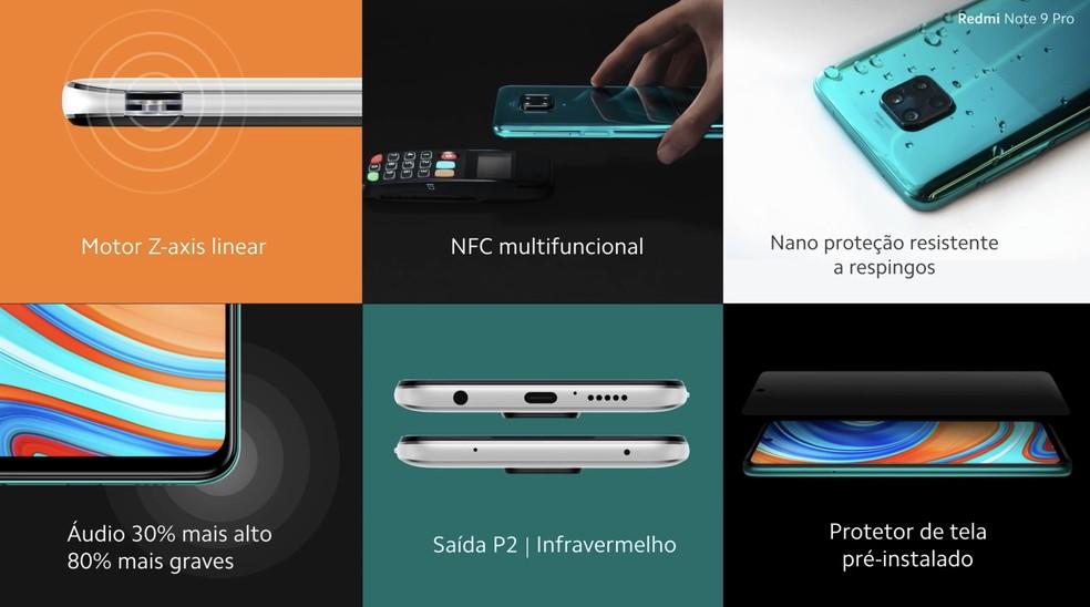 Características do Redmi Note 9 Pro — Foto: Divulgação/Xiaomi