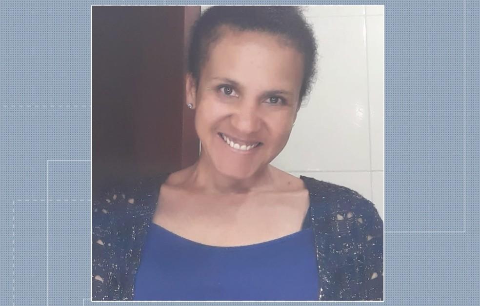 Sandra Ribeiro morreu atingida por um tiro, em Araucária, após uma confusão em um supermercado. — Foto: Reprodução/RPC