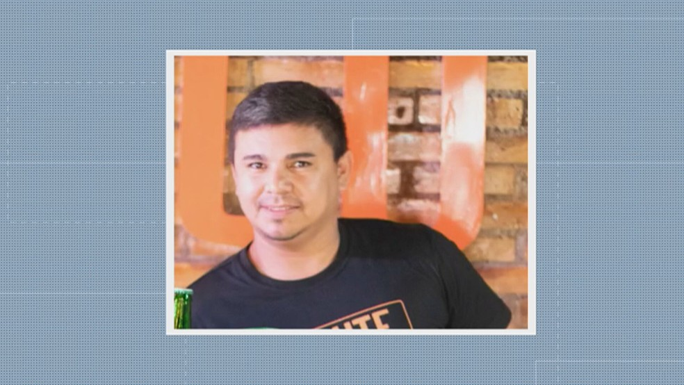 Bruno Alves de Lima, de 34 anos, era garçom e morreu após discussão em bar,  no DF — Foto: TV Globo/Reprodução