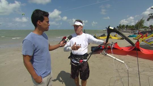 Sabe o que é kitesurfe? Instrutor explica esporte