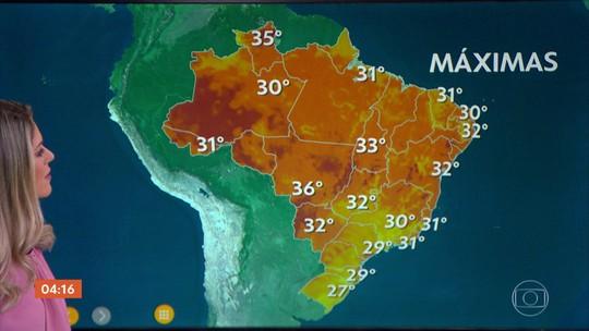 Veja a previsão do tempo para todo o país