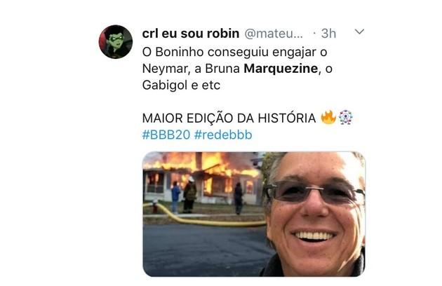 O diretor Boninho vem sendo elogiado nas redes por causa da escolha dos participantes do 'BBB' 20. Além de Neymar, o jogador do Flamengo Gabigol também defendeu a permanência de Prior no jogo (Foto: Reprodução)