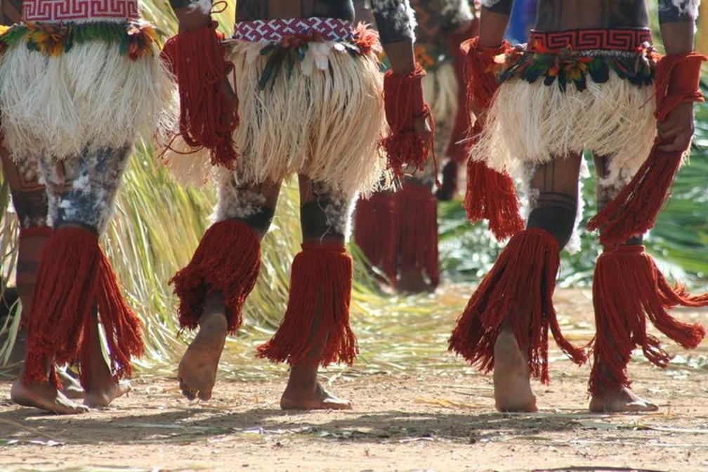 Povo da etnia Karajá, que vive em Mato Grosso, Tocantins e Goiás (Foto: Acervo Funai/Divulgação)