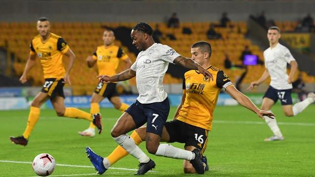 Sterling, em lance de Wolverhampton 1 x 3 Manchester City