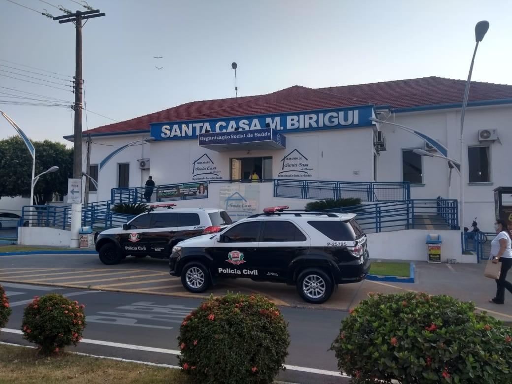 Operação faz buscas nas Santas Casas de Birigui e Penápolis contra supostos desvios de verba da saúde