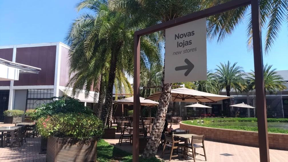 Novas lojas foram abertas em expansão de outlet em São Roque (SP) (Foto: Matheus Fazolin/G1)
