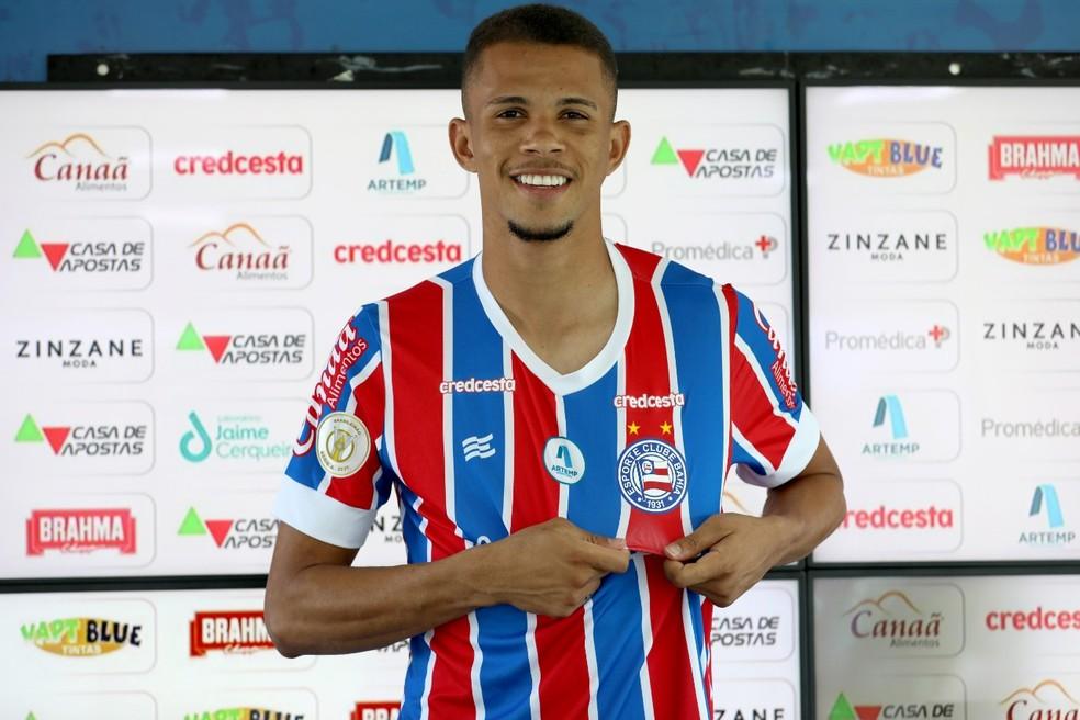 Volante Pablo está relacionado para enfrentar o Bragantino — Foto: Felipe Oliveira/ EC Bahia