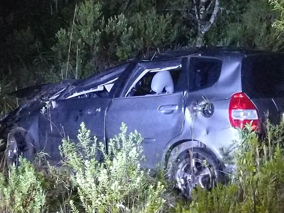 Homem morreu em acidente na SC-390 na Serra catarinense  — Foto: PMRV/Divulgação