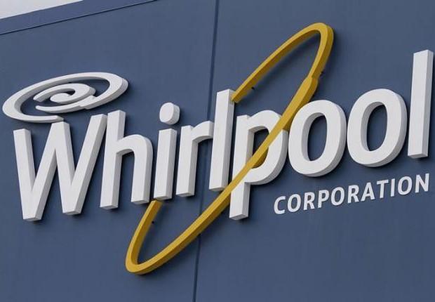 Logo da Whirlpool é visto no alto de unidade nos Estados Unidos (Foto: Getty Images/Arquivo)