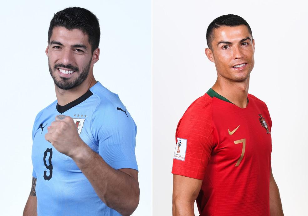 Suárez x Cristiano Ronaldo promete fortes emoções (Foto: Jan Kruger e Mike Hewitt/FIFA via Getty Images)