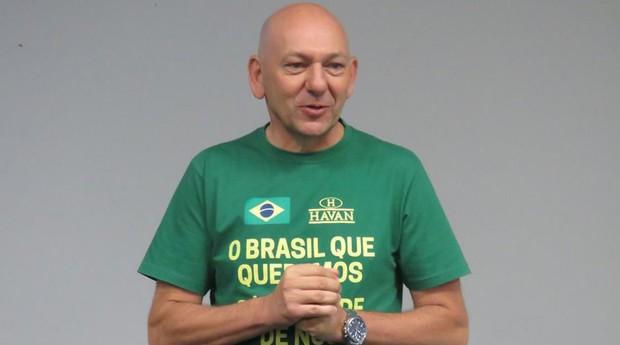 Luciano Hang: dono das lojas Havan pode virar alvo de ação civil pública por tentar direcionar o voto do trabalhador (Foto: Reprodução)
