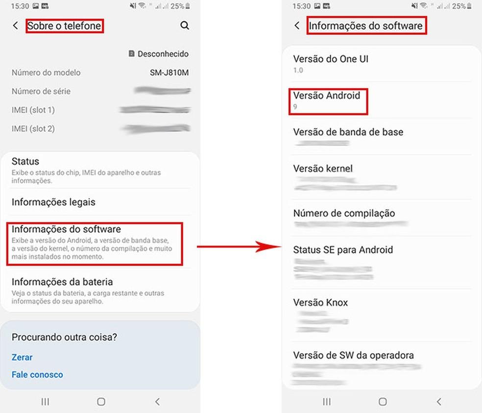 Aprenda a conferir a versão do seu Android — Foto: Reprodução/Fernanda Lutfi
