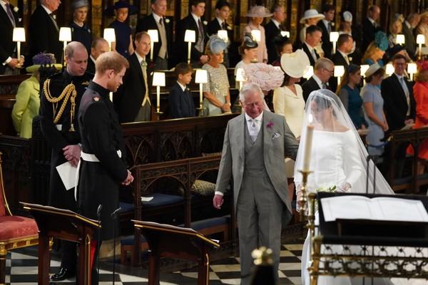 Príncipe Harry, Príncipe Charles e Meghan Markle (Foto: Getty Images)