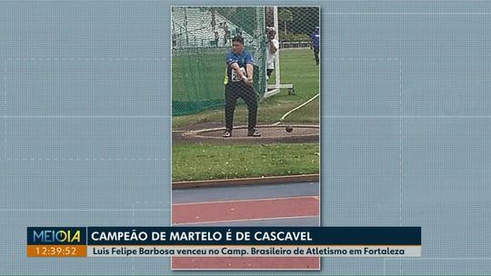 Morador de Cascavel é campeão brasileiro de arremesso de martelo