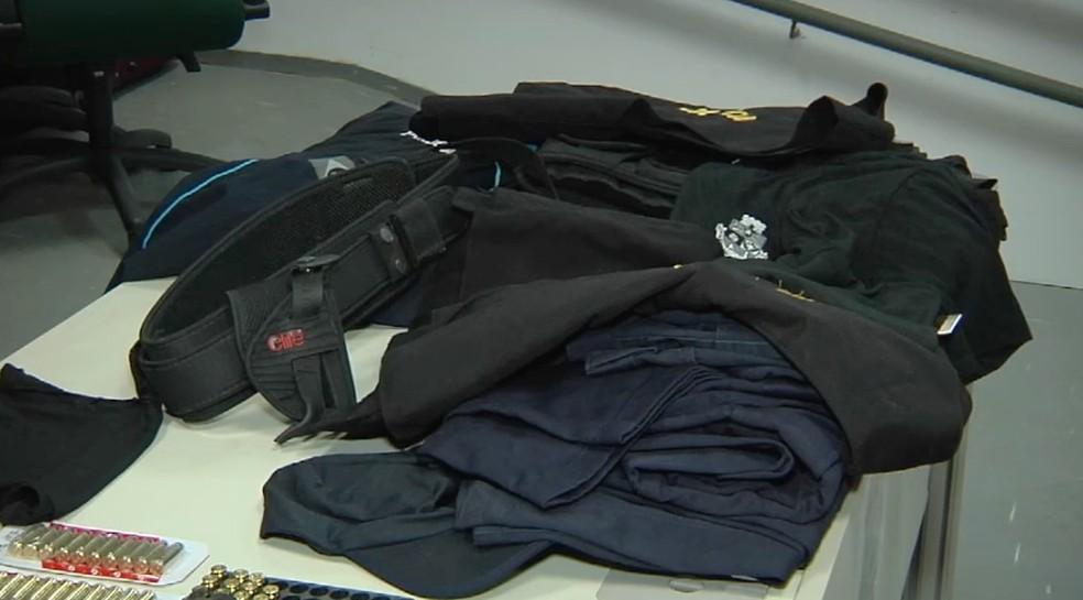 Criminosos usavam coletes à prova de bala (Foto: TV Verdes Mares/Reprodução)