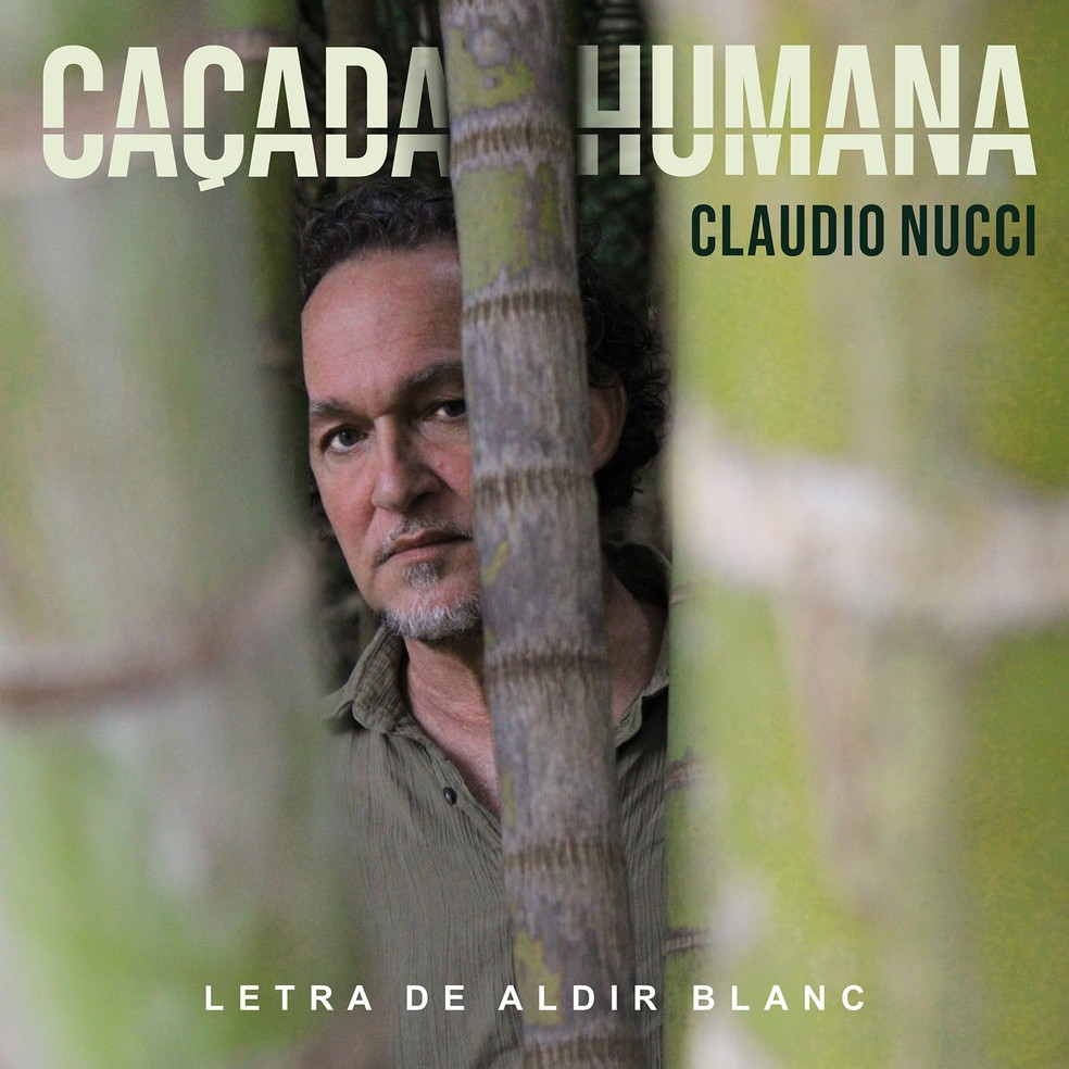 Capa do single 'Caçada humana', de Claudio Nucci — Foto: Rafael Lorga