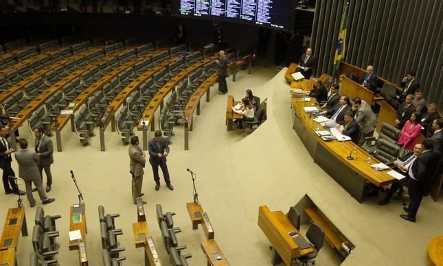Plenário da Câmara durante a discussão da segunda denúncia contra Temer