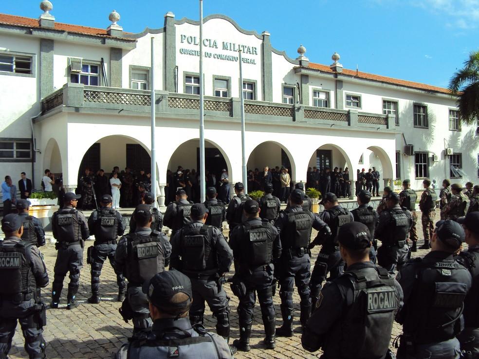 Mais de 6,3 mil homens da Polícia Militar vão atuar no interior e na região metropolitana de Natal, durante o carnaval (Foto: Assessoria de comunicação da PMRN)