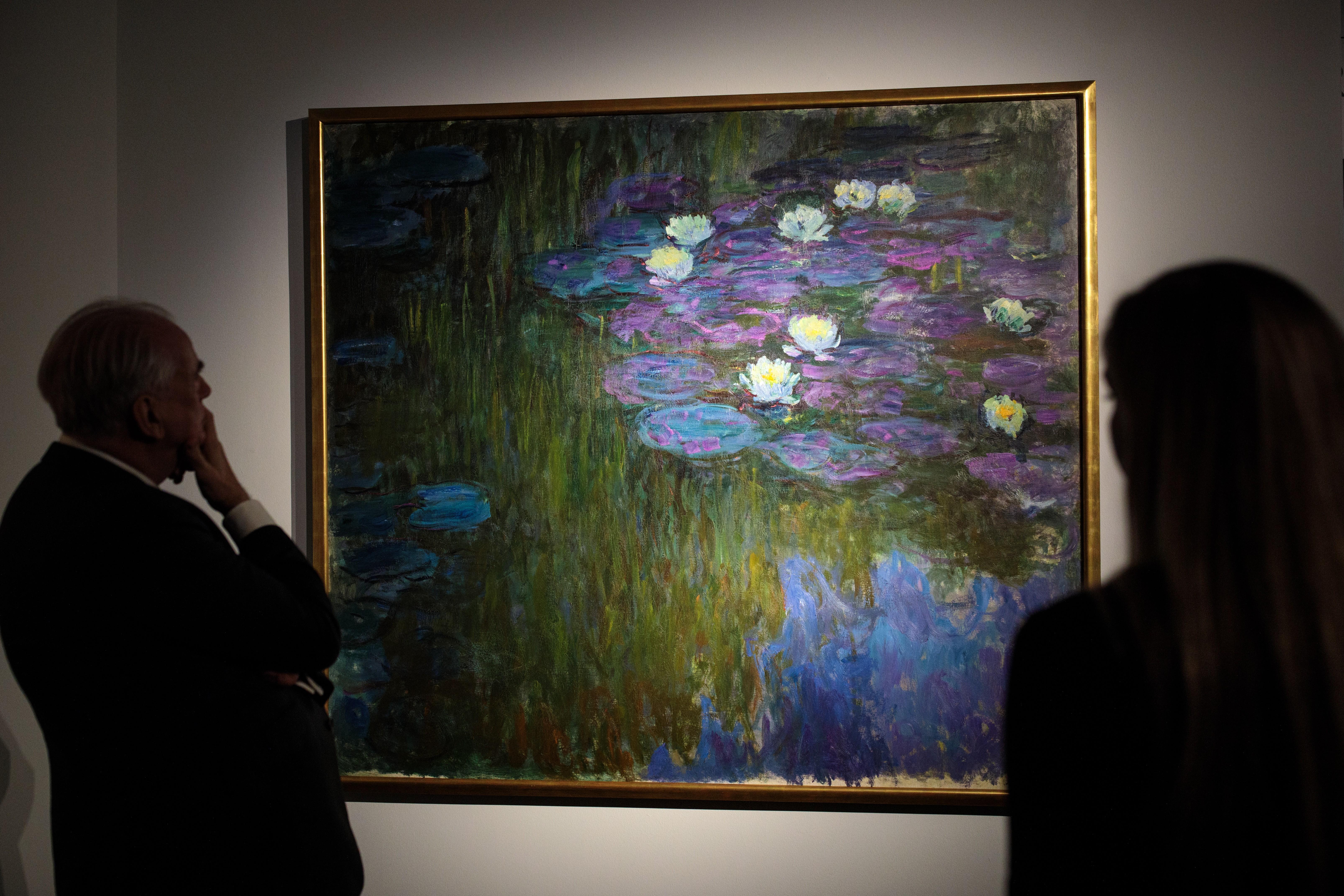 Nympheas en fleur, de Claude Monet, é uma das obras arrematadas (Foto: Getty Images / Jack Taylo)