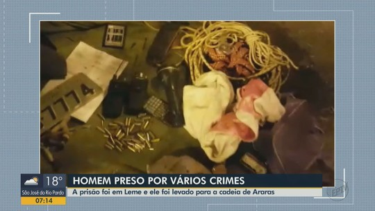 Polícia Civil prende em Leme suspeito de furtar residências em cidades da região