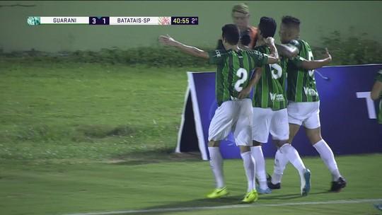 Os gols de Guarani 3 x 2 Batatais pela 5ª rodada da série A2 do Campeonato Paulista