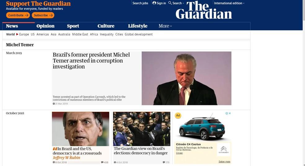 The Guardian — Foto: Reprodução