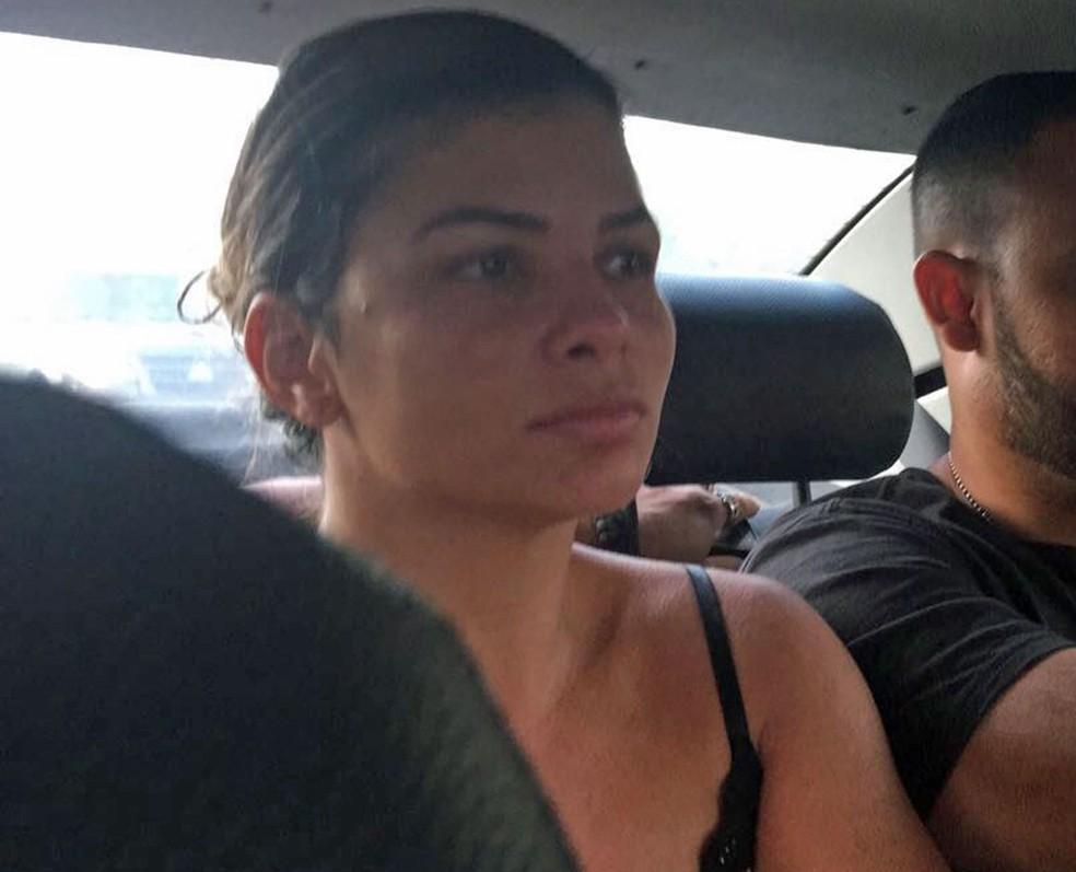 Danúbia foi presa nesta terça-feira no Rio (Foto: Reprodução)