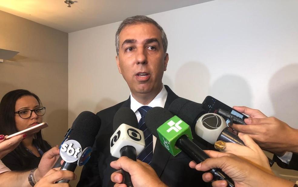 Ex-governador José Eliton fala sobre investigações da Operação Decantação 2 em Goiânia Goiás — Foto: Honório Jacometto/TVAnhanguera