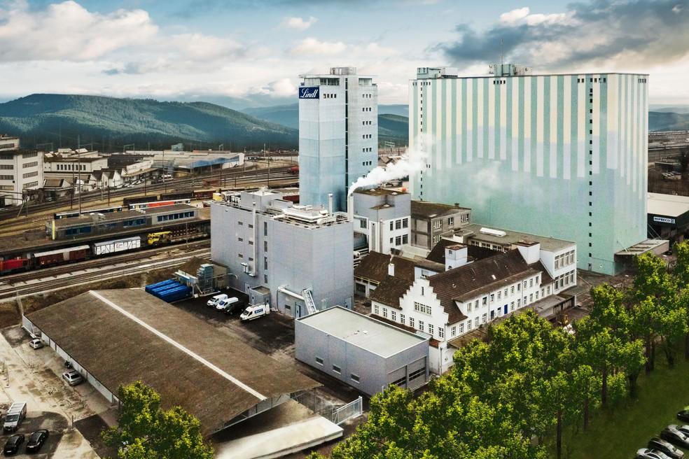 Fábrica da Lindt & Sprüngli em Olten, na Suíça — Foto: PPR/Lindt & Sprüngli/Divulgação