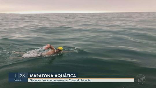 Francano conclui travessia do Canal da Mancha em prol do combate a doença rara
