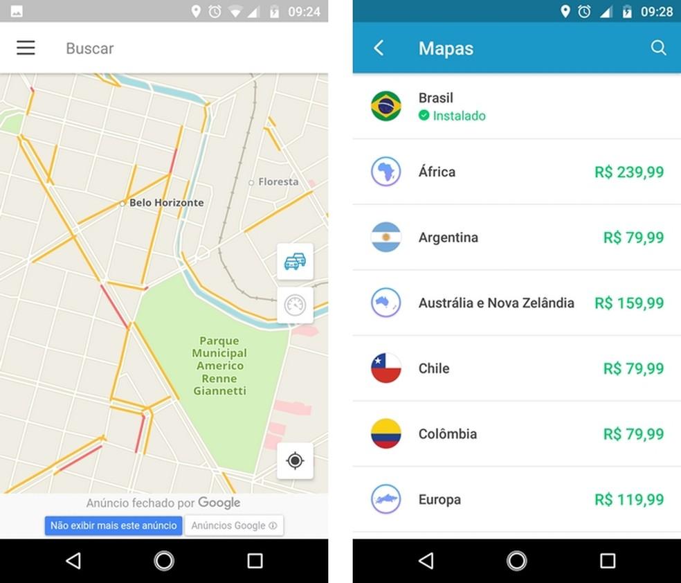 GPS Brasil vem com mapa do país instalado para uso offline (Foto: Reprodução/Raquel Freire)