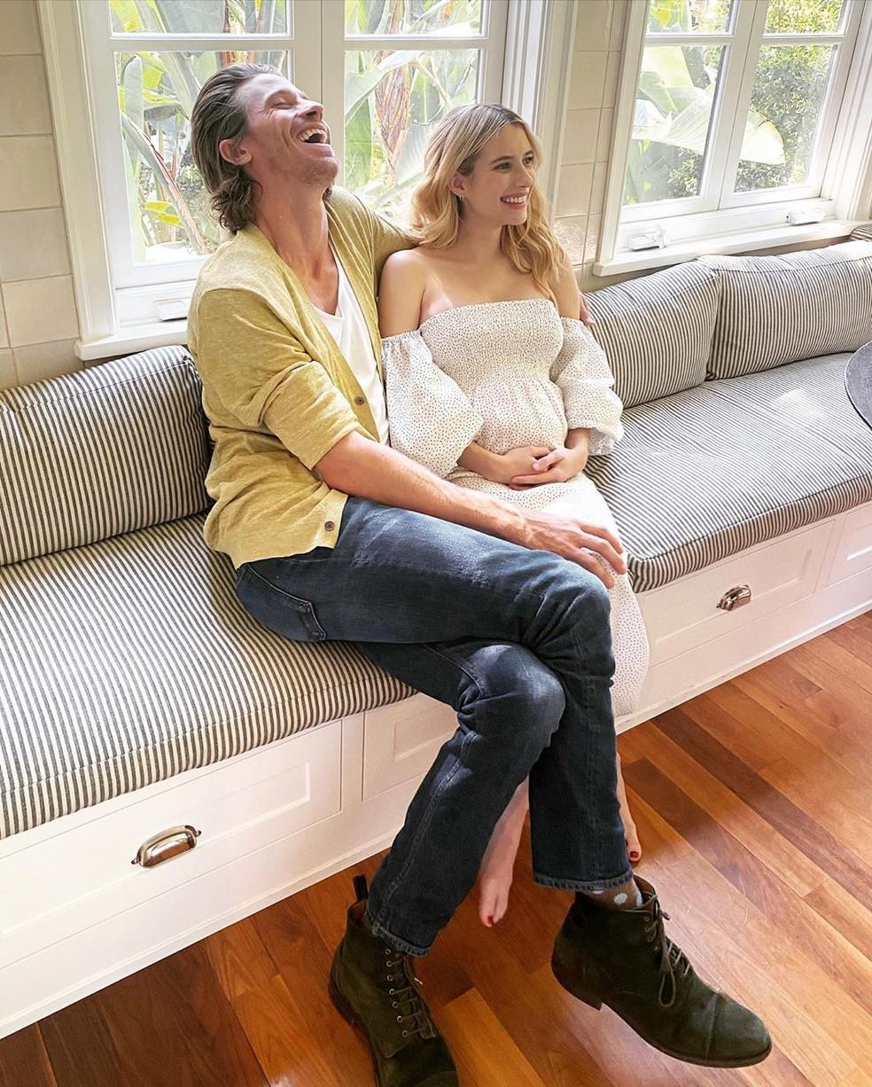 Emma Roberts está grávida do primeiro filho — Foto: Reprodução/Instagram